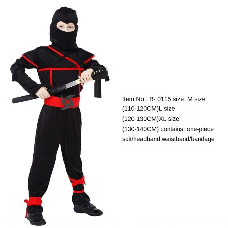 JYtV7 adulto Ninja japonés y Fe cos niños de la ropa costumesuit rendimiento negro de Halloween cos macho y hembra del ninja japonés