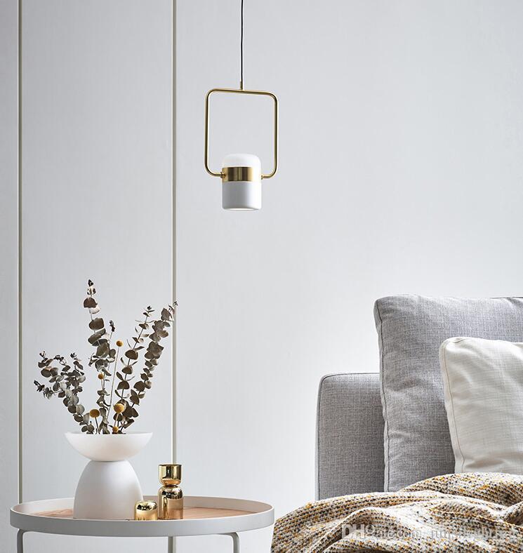 Modern minimalist bar restaurant multi-head molecular rotating pendant lamps Nordic bedroom bedside metal pendant lights nordic creative
