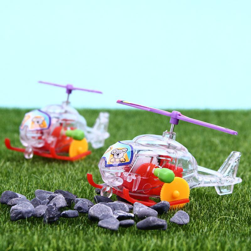 Mini trasparente Aircraft Giocattoli Aereo Clockwork Giocattoli per bambini Educational Wind-Up Giocattoli Aircraft plastica bambini regali di compleanno Giocattolo ZX BH2078