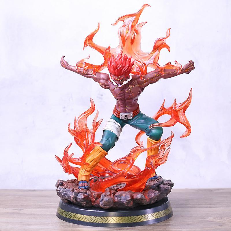 Naruto Shippuden Might Guy otto porte Modulo Vol.2 Statua PVC Figure Toy Modello con LED MX200319