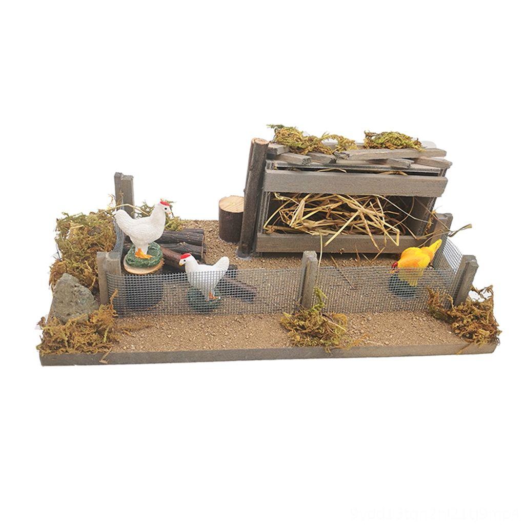 Dcolor 1//12 Miniatures Maison de Poup/ées en Bois Simulation Poulailler D/écoration pour Accessoires de D/écoration de Maison de Poup/ée