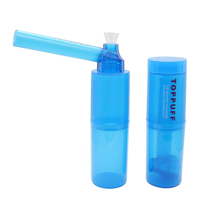 Plastic cigarette pipe plastic water cup shape pipe accessories pipe cleaning convenient water bottle hookah pipes