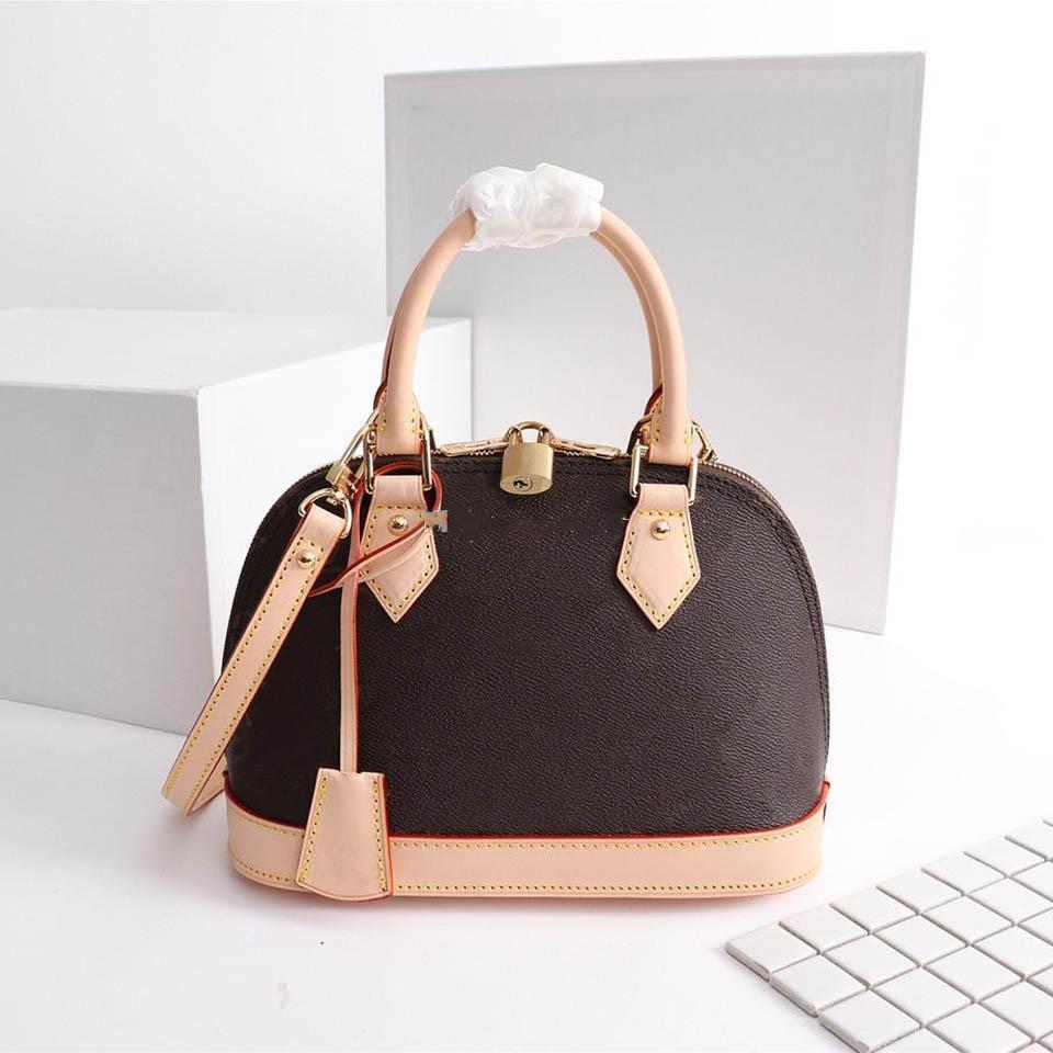2019 Qualitäts-Art- und Shell-Handtaschen aus echtem Leder Umhängetasche Tasche Schultertote Bags7863 #