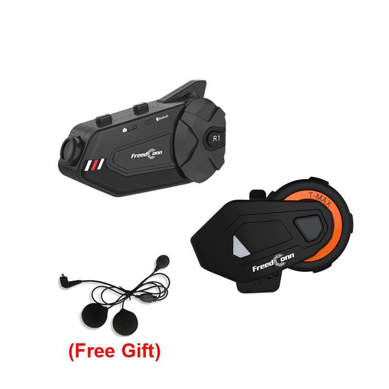 Мотоцикл Intercom Tmax-E + R1 Plus Group Говорящий Система 1000 м 6 Riders Bluetooth Шлем Гармет с