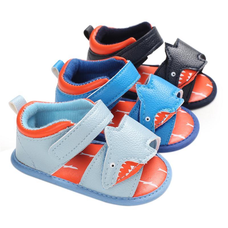 Bebekler Bebek Boys kızlar Deri Birinci Yürüyenler Sandalet 2020 Yaz Moda Kaymaz Bebek ayakkabıları 11-13cm
