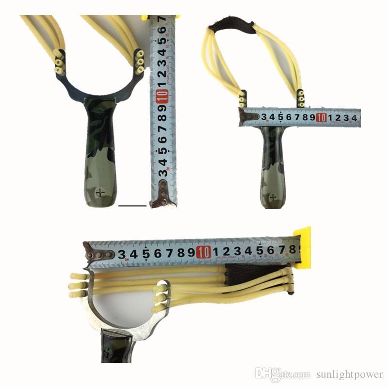 Ambientazione esterna professionale Slingshot colpo di imbracatura in lega di alluminio catapulta dello Slingshot Camouflage Bow Un-hurtable Gioco da Esterni Strumenti da gioco