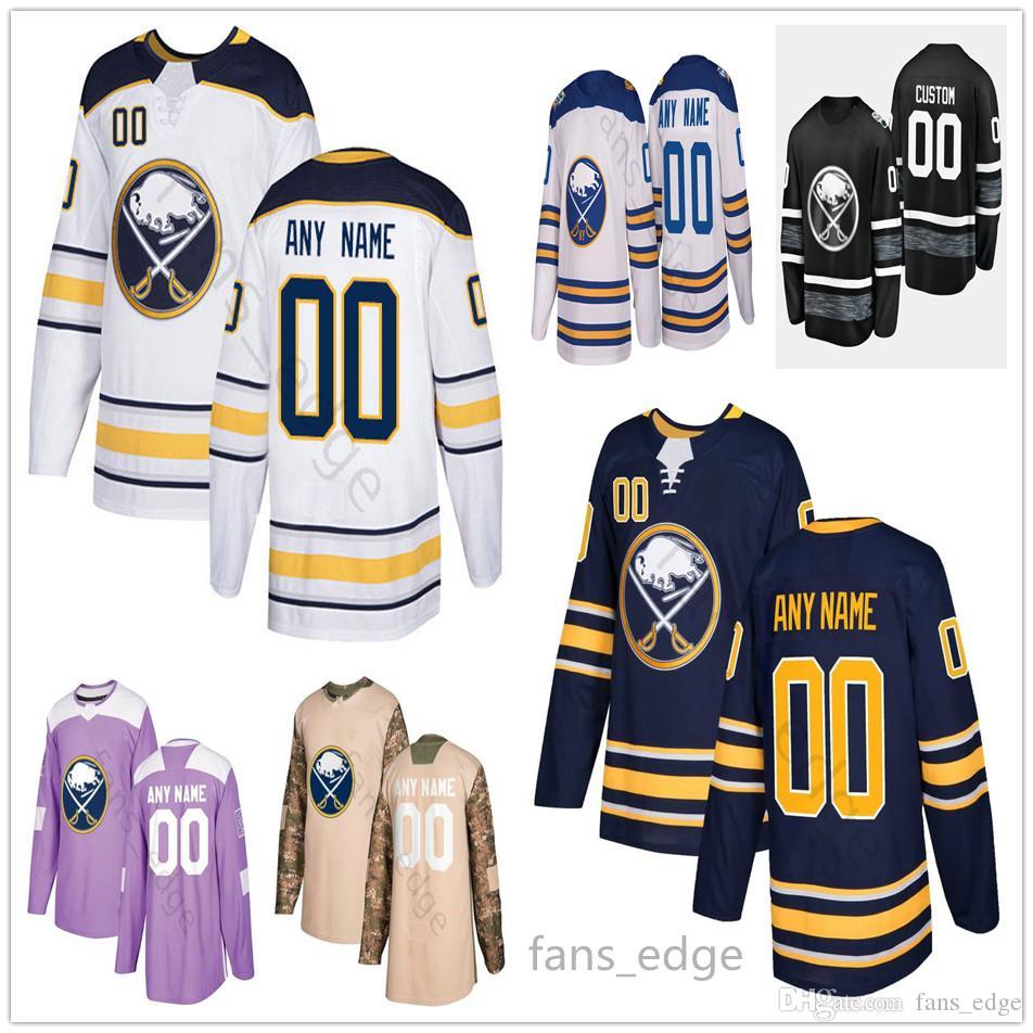 Custom Buffalo Sabres # 62 Brandon Montour 4 Zach Bogosian 12 Brian Gionta 40 Carter Hutton Uomo Donna Bambino Youth Ice Hockey Maglie