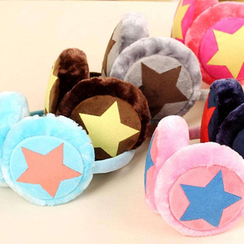 Ajustável inverno quente Earmuffs Para Crianças Adulto Estrela Plush orelha pele Muff da orelha tampa bonito Hats Caps chapéus, lenços luvas Headband presente F