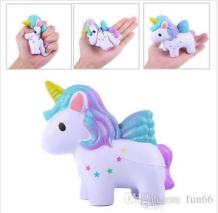 3 styles Squishy Unicorn Horse Toys Flying Unicorn Dolls Slow Rising Unicorn Squishy Toy Party Props Xmas Gift for Kids 50