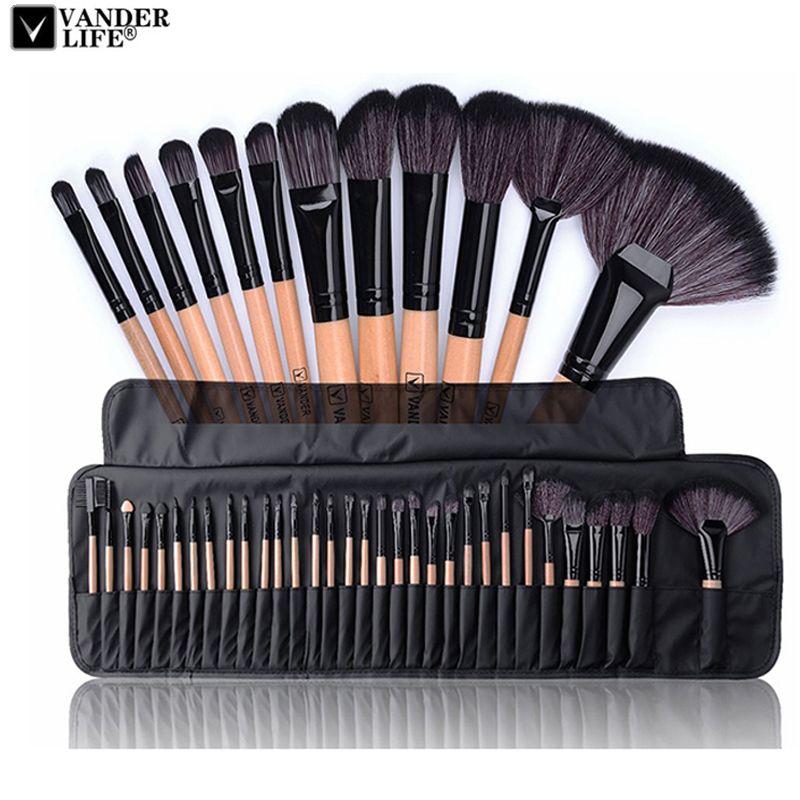 32 stücke Professionelle Make-Up Pinsel Set Bilden Puderpinsel Pinceaux Maquillage Schönheit Kosmetische Tools Kit Lidschatten Lippenpinsel Tasche