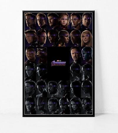 Avengers Son Oyun Sıcak Yeni Süper Kahramanlar Film sanat duvar dekorasyonu sıcak satış popüler afiş 6