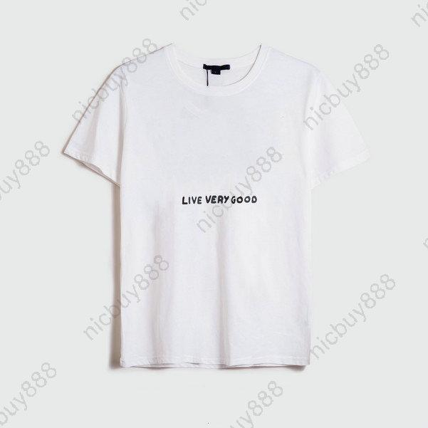 Fashion Designer Luxury Summer Mens Classic Live Very Good Letter Flowers Print Clothing T Shirt Simple Tshirt Casual Cotton Tee Top T Shirt T Shirts And Shirts On T Shirts From Nicbuy888