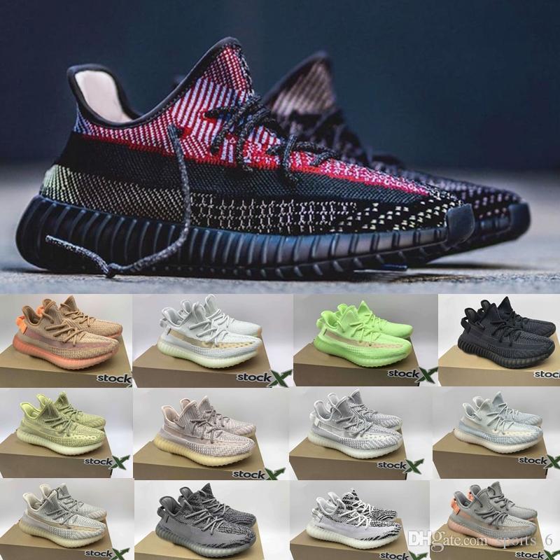 Hot Kanye West Designer Shoes Yecheil Yeezreel Preto Reflective Zebra Creme Branco matiz azul mimyezzysyezzyimpulso350v2