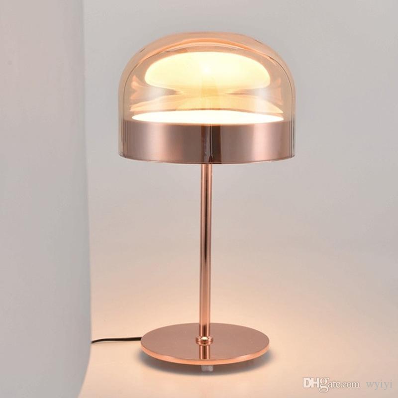 Nordic Equator Creative Study Room Bedroom Bedside Bar Front Desk light Simple Warm Table Lamp Rose gold 110V-240V