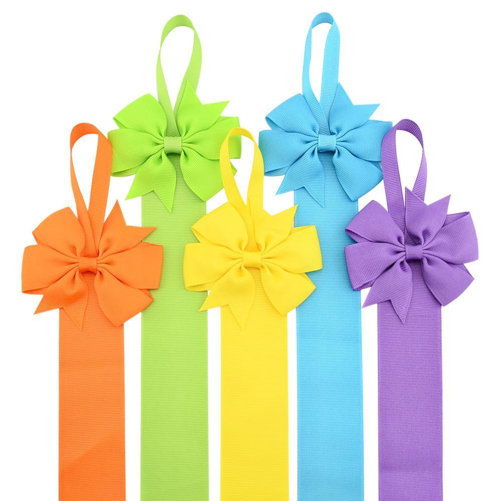 12pcs / Lot 26inch neuen Entwurfs-Mädchen-Normallack-Haar-Bogen-Halter Handgemachte Mädchen Barrette Halter princcess Haarschmuck 770