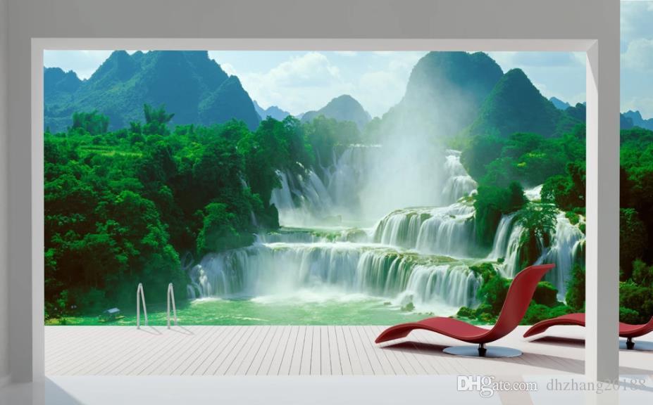 Пейзаж вода и богатство ТВ фон настенные обои для стен 3 д для гостиной