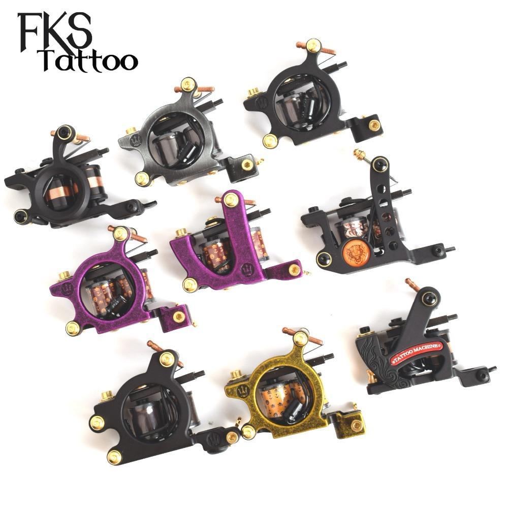 FKSTATOO 2pcs envoltório da bobina da máquina do tatuagem Comprar um Got One For Free 1pc máquina do tatuagem Liner + 1pc Sombra Ferro Máquina de Armação Gun