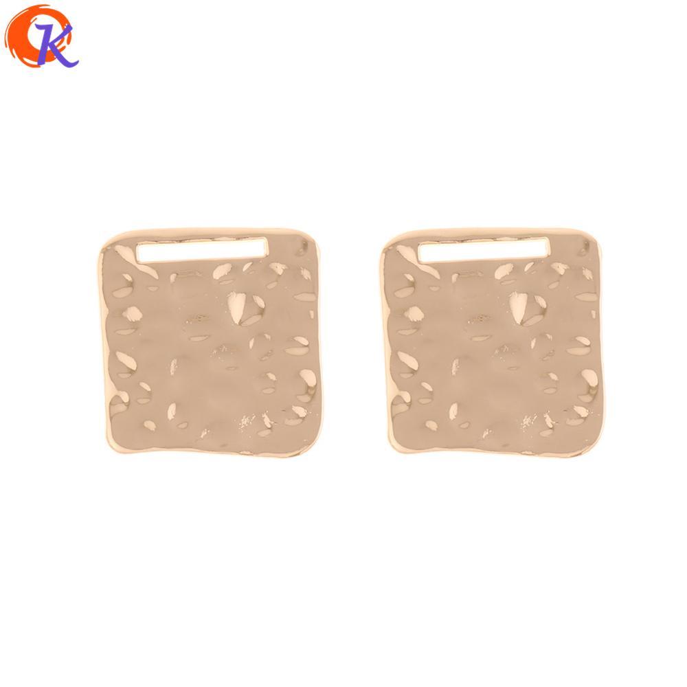 vente en gros 50pcs 24 * 25MM bijoux accessoires / connecteurs de boucle d'oreille / forme carrée / accessoires de bricolage / fabriqués à la main / boucle d'oreille