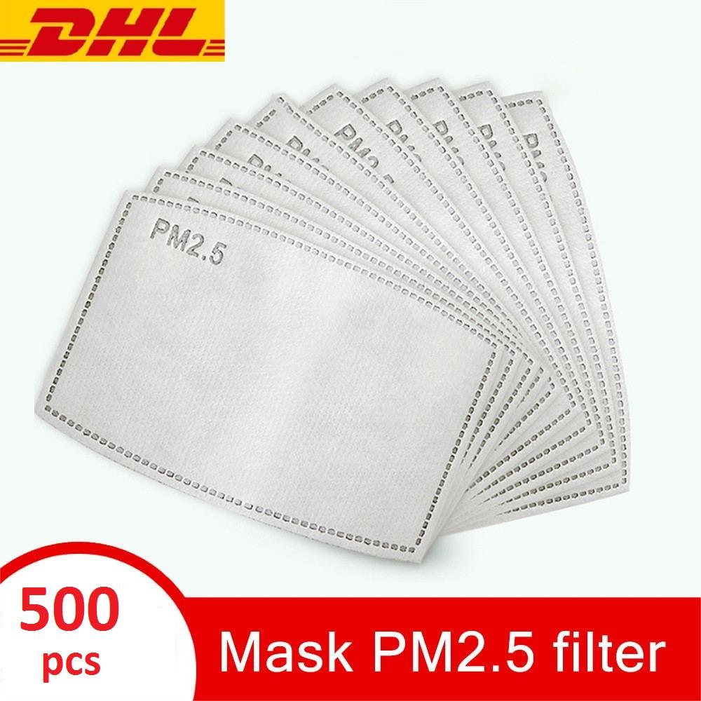 5 طبقة PM 2.5 الكربون المنشط قناع أقنعة تصفية إدراج القطن الوجه أقنعة الوجه استبدال الغلاف الفم