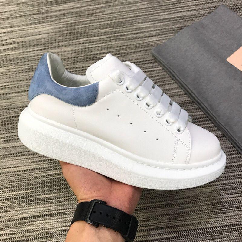 Mode Frau Schuhe Casual Man Sneaker Neue Mischfarbe Rot Gelb Blau Zurück Low Cut-Plattform Weiße Sneaker-Party-Schuh