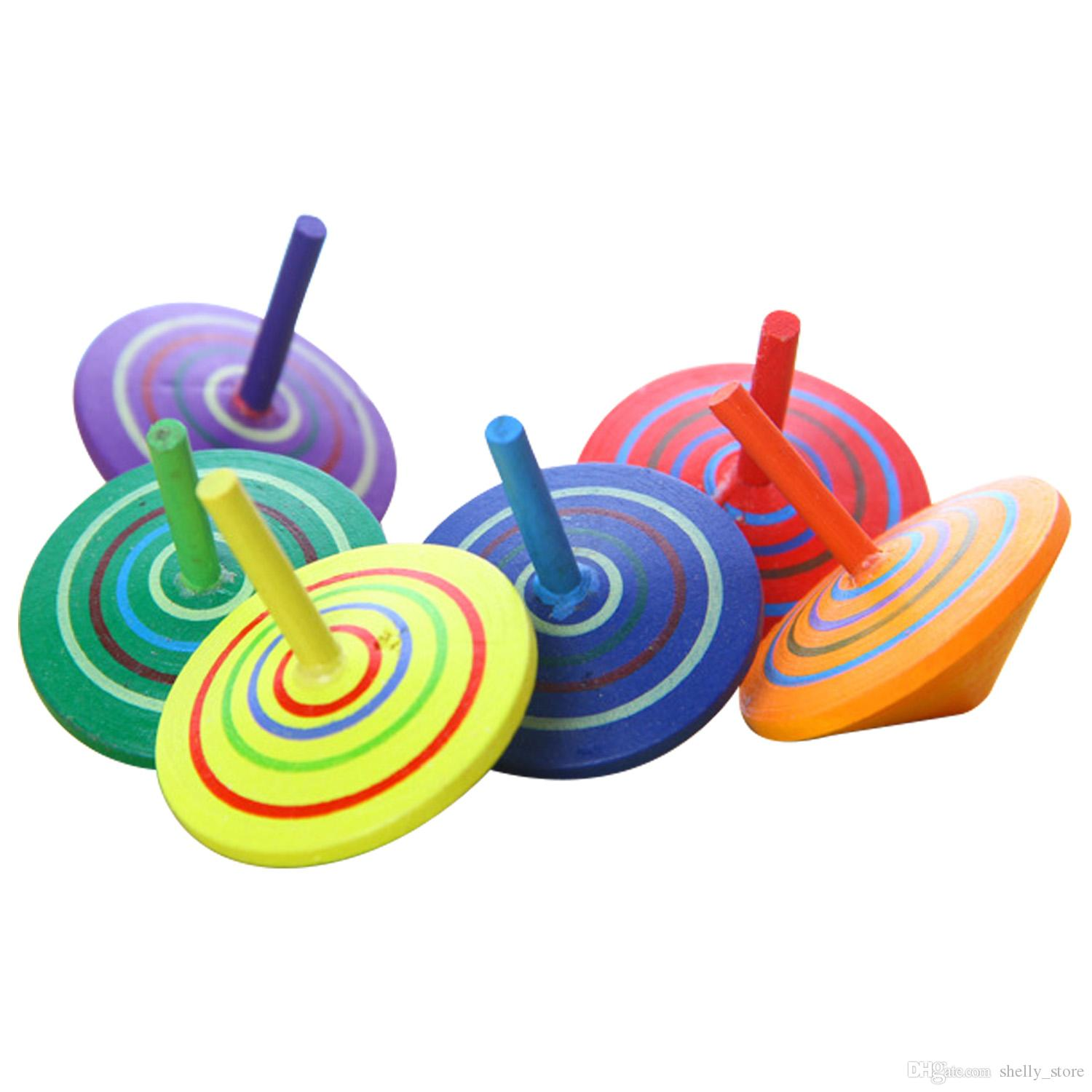 Wholesale Wood Beyblade 4.5cm Wooden Children's Leisure Hand Spinne Toys Fidget Spinner for Kids Classic Spinning Top