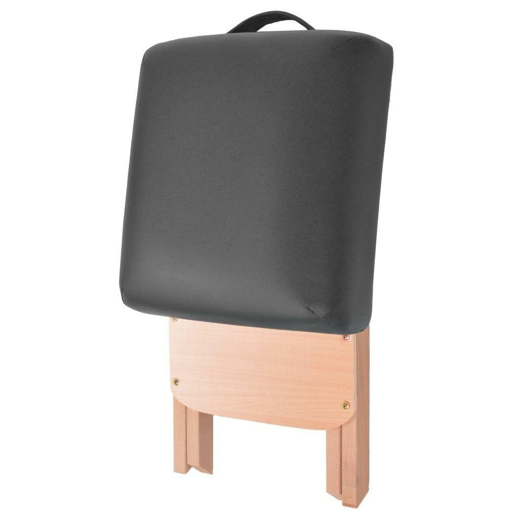 Massaggi sgabello 12 cm seduta spessa 2 capezzali Nero Pet Supplies giardino domestico