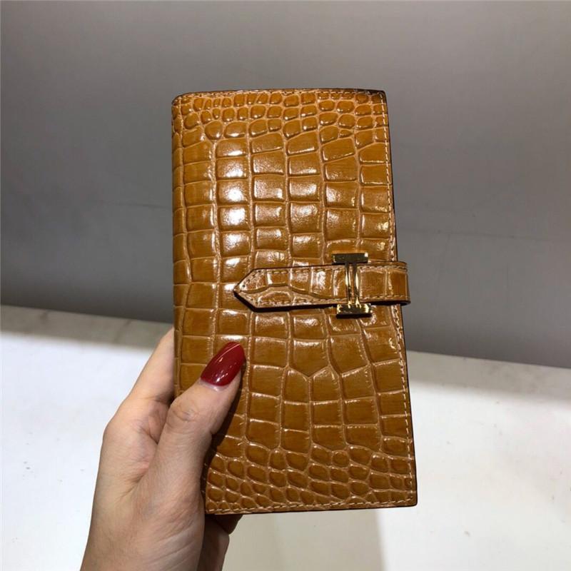 Designer Luxus-Handtaschen Portemonnaie Krokodilmuster Frauen-echtes Leder der Marke Geldbörsen-Kartenhalter Geldbörse Designer-Kartenhalter Brieftasche 20