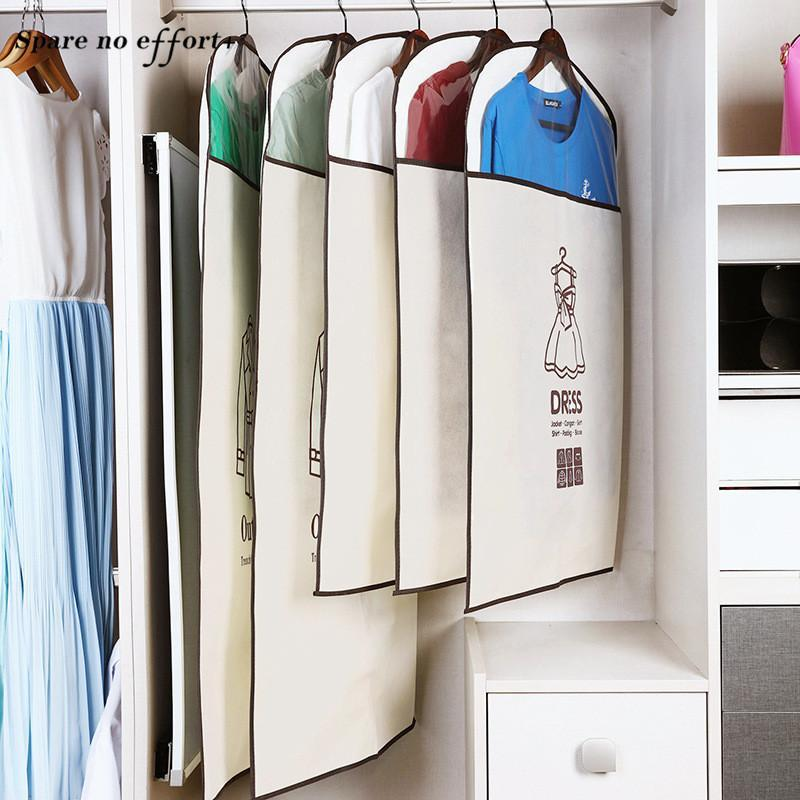 Garment Bag Seyahat Organizer Storage Bags Clothes Large Garment Dust Cover Wardrobe Storage Bag for Clothes Organizer
