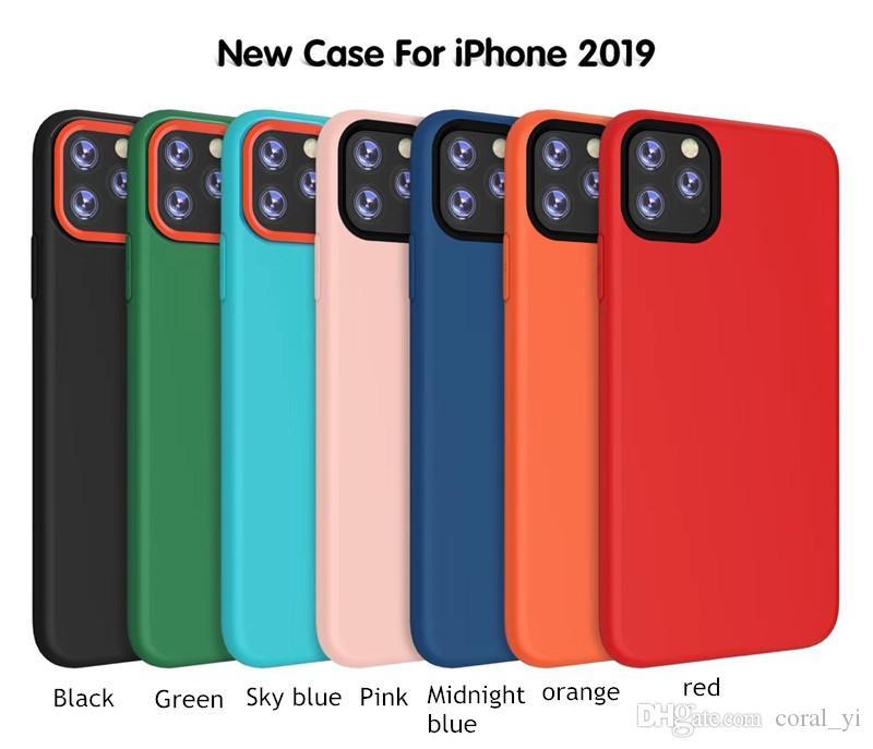 Nuova Custodia In Silicone Solido IPhone 11 Pro Max Cover Morbida In Tinta Pura Apple 6S 7 8 Plus XR XS Da Coral_yi, 2,02 € | It.Dhgate.Com