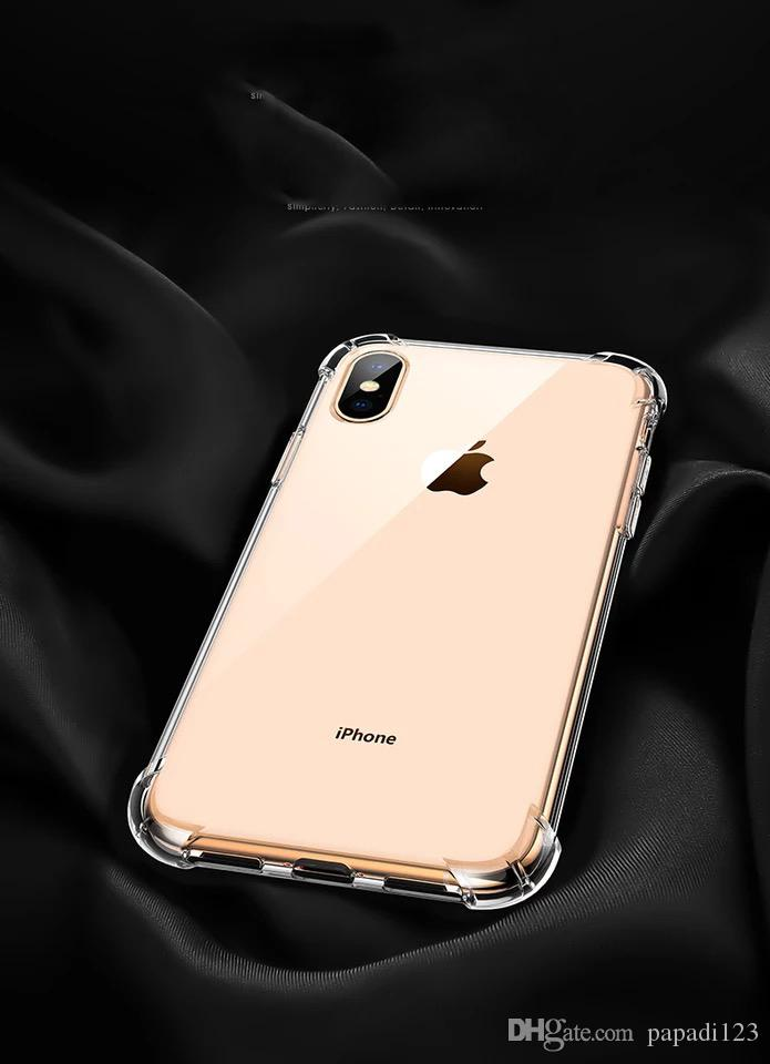TPU Transparent Anti-fall Airbag Silicone Phone Cases For iphone 11 Pro Max XS MAX XR X 6S 7 8 plus