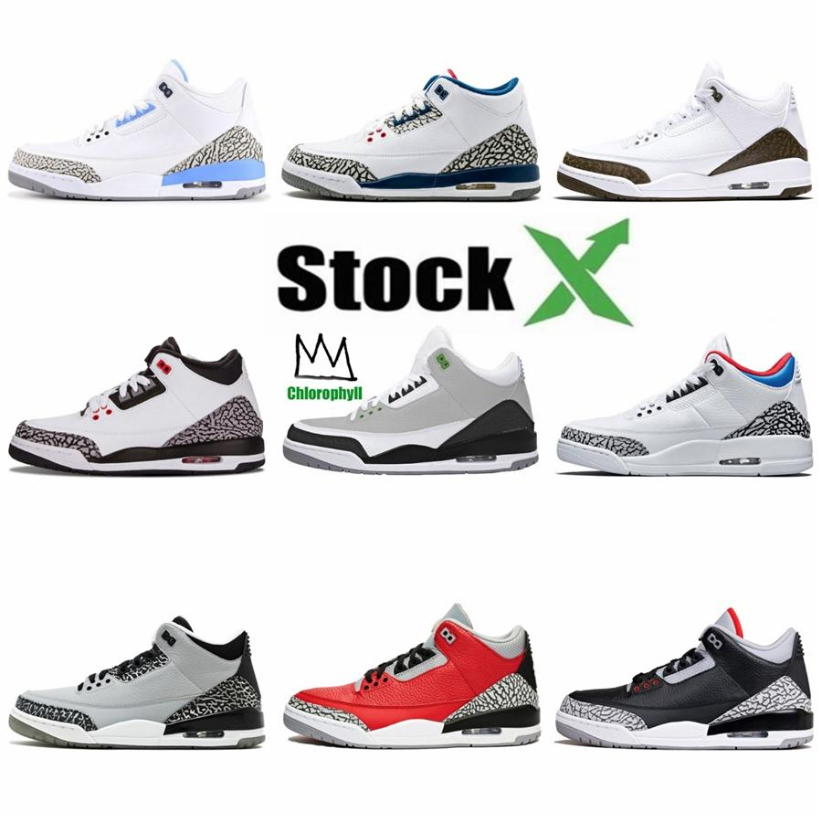 2020 Bred 3S Men Basketball Shoes 3 What The Fiba Silt Red Cool Grey Black Cat Mens Trainers Athletic Sports Sneakers 7-13#714