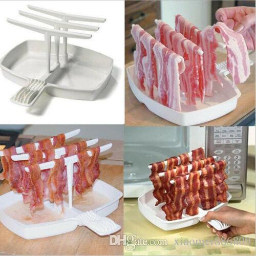 المطبخ الشواء صينية كوك الميكروويف لحم الخنزير المقدد رف شماعات طباخ أداة مطبخ التموين