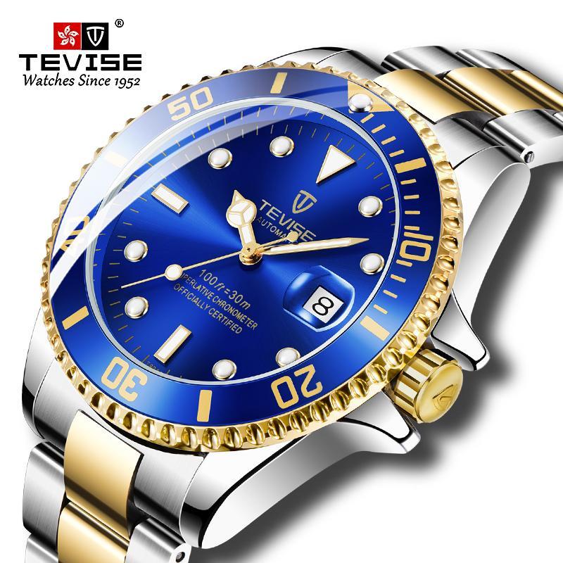 Перевозка груза падения мужчины автоматические часы Мужчины Бизнес Skeleton Механические часы Наручные часы Relogio Мужчина для
