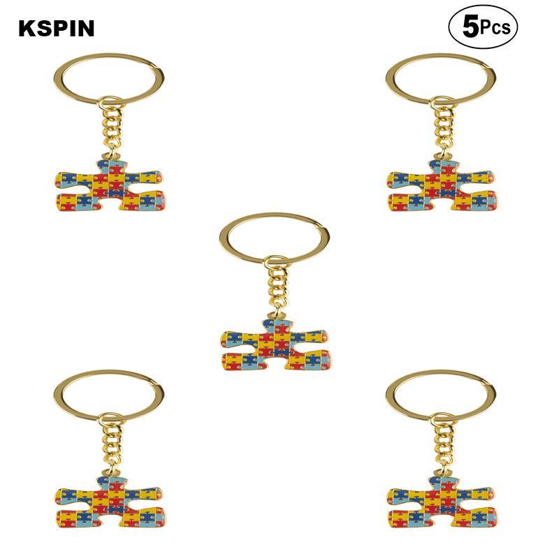 L'autismo Spille Pin del risvolto del distintivo della bandierina Pin Spilla Badge 5pcs un lotto