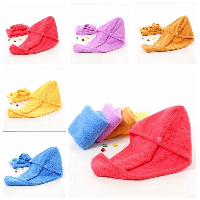 Microfibra toalla de baño para mujer de cabello seco Cap engrosamiento de la toalla seca rápidamente casquillos de ducha súper absorbente seco de pelo del sombrero de toallas de ducha Cap ZYQ304