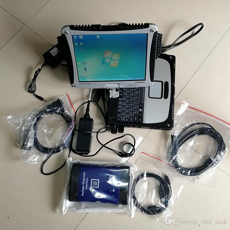 G-M MDI with wireless wifi and soft-ware auto diagnostic tool Multiple Interface OBD2 Scanner with Used CF-19 CF19 4G and 320GB HDD