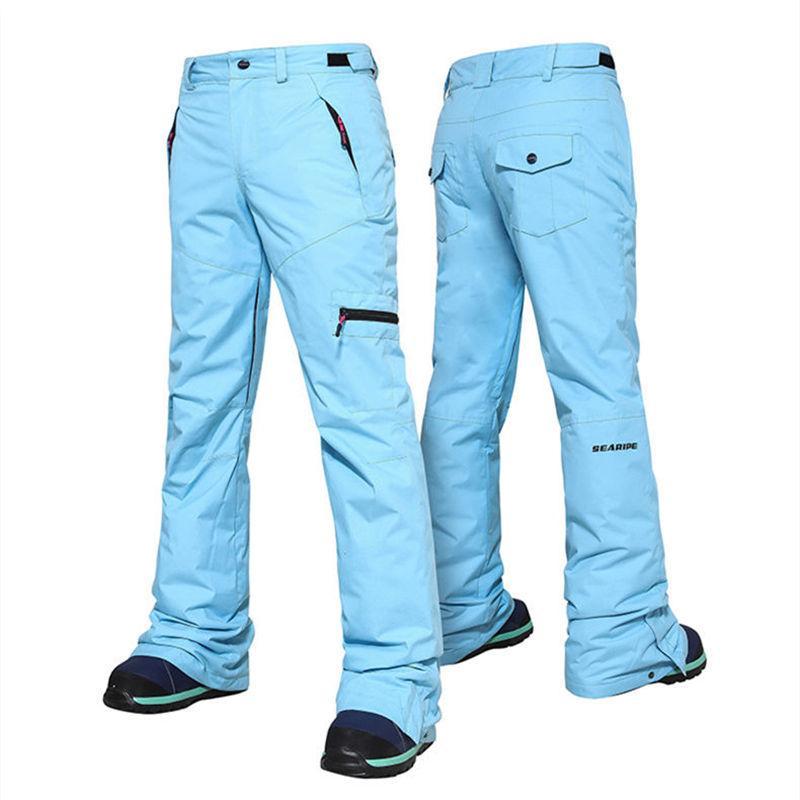 Женщины зимние лыжные штаны водонепроницаемый ветрозащитный Теплые брюки Комбинезоны Открытый Женский Тепловое Snowborading лыжи Снег Брюки CYF247