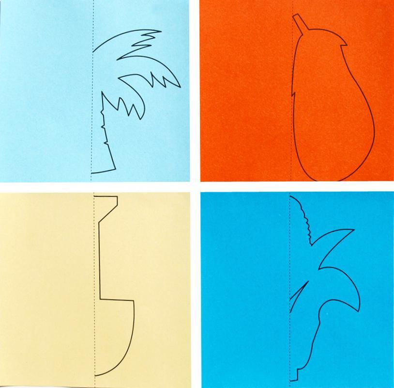 96pcs / набор детей Симпатичный мультфильм цвета бумаги Folding и резки Игрушки Дети Kingergarden Art Craft DIY Развивающие игрушки