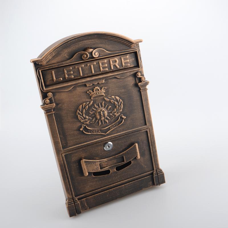 The sun pattern бронзовый почтовый ящик газетная коробка настенный ящик для хранения ржавчины газета Вилла почта NL410