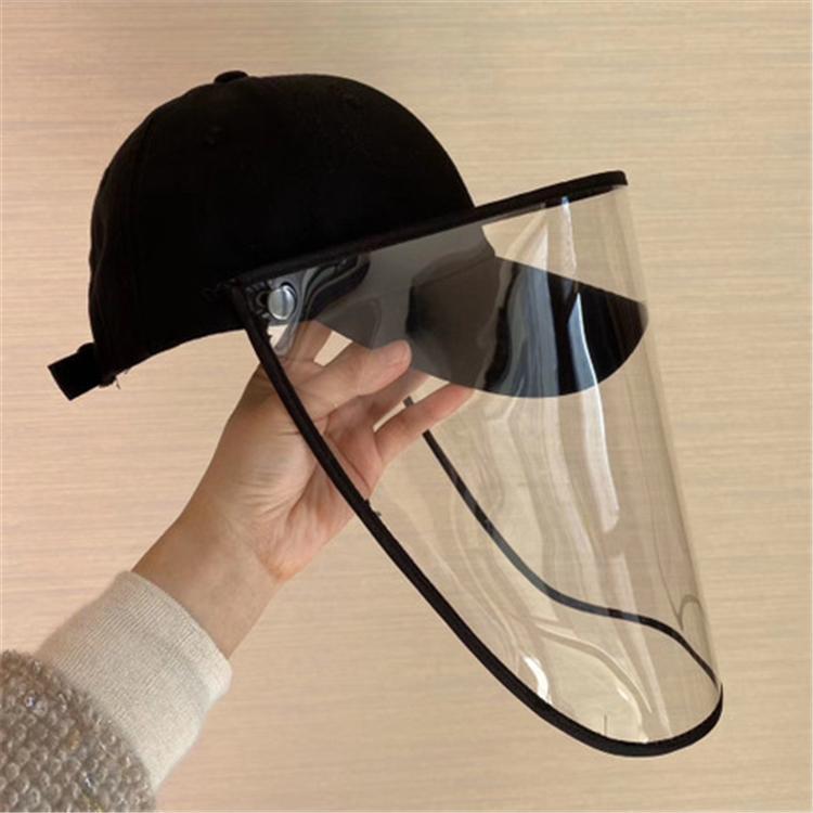 Adam Kadınlar beyzbol şapkası Anti-tükürme Enfeksiyon Koruyucu Göz Kapağı Anti-sis Windproof Şapka Karşıtı tükürük Yüz Kapak Cap Toptan HN329