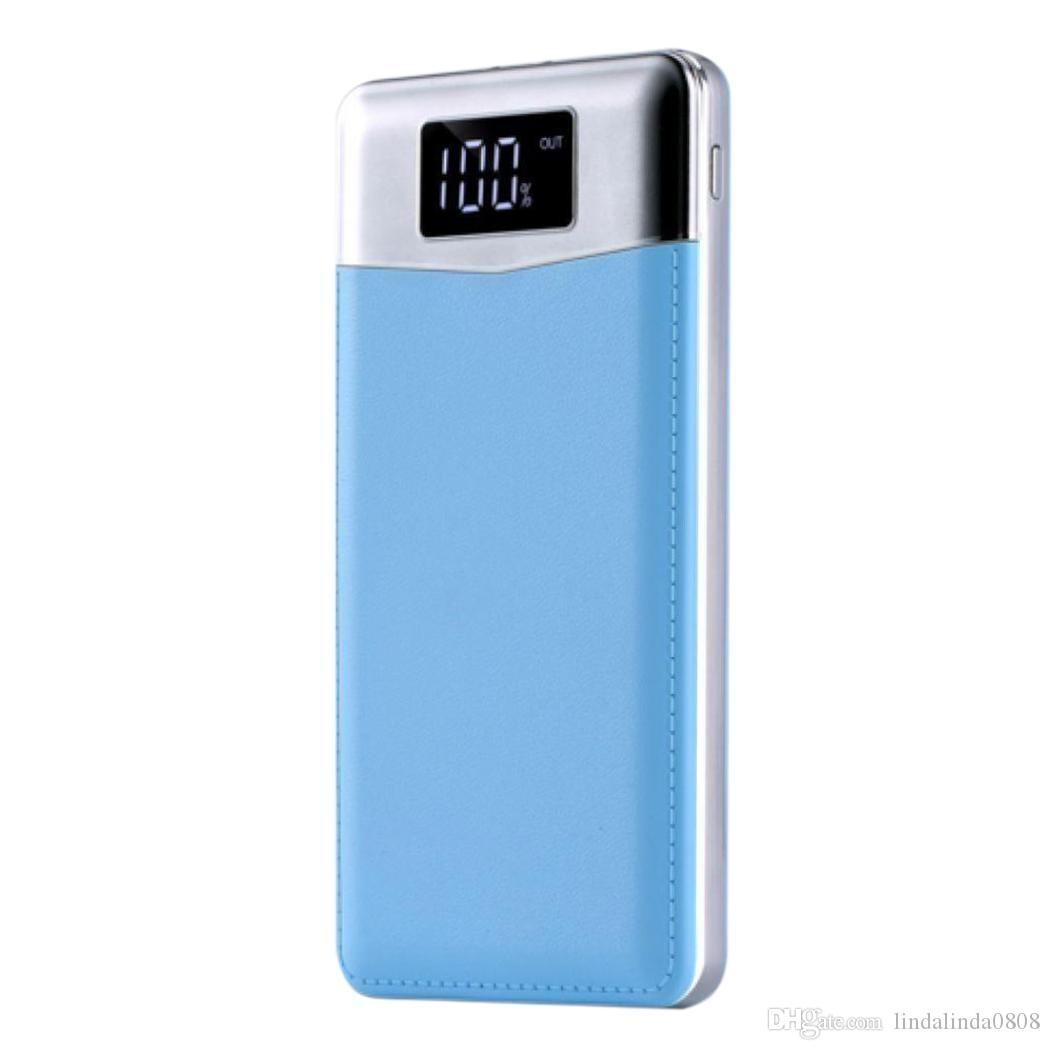Mini Portable LCD Digital Display Power Bank Mobile Power With Flashlight
