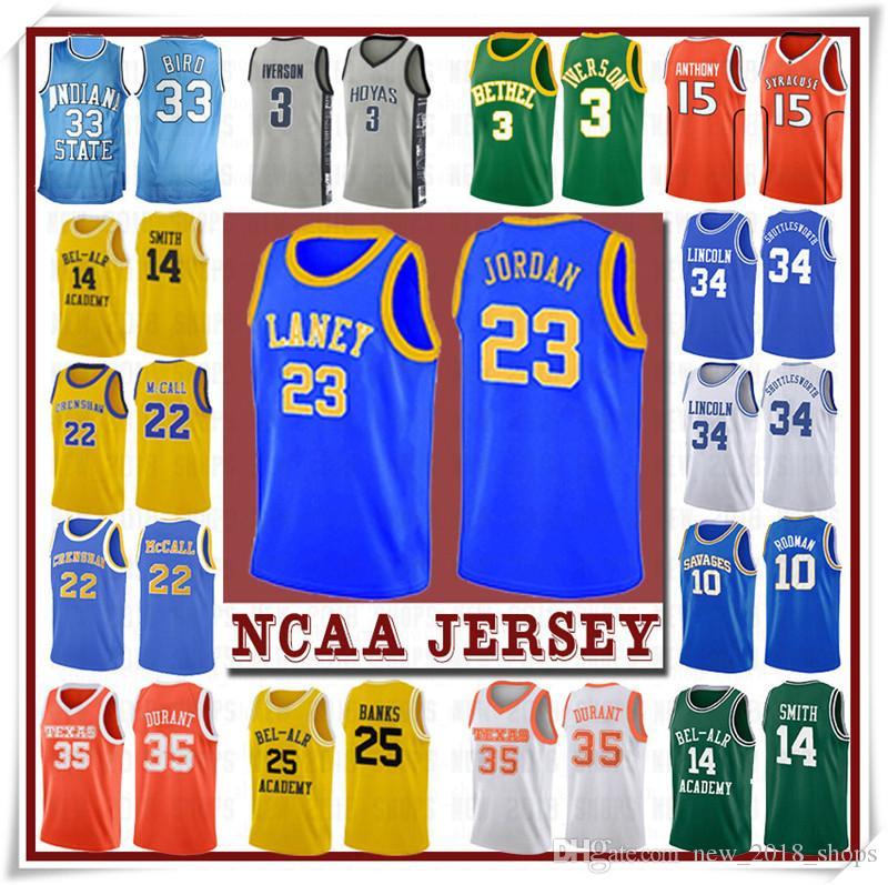 NCCA Jersey Kawhi Leonard James Iverson Homens 23 Lebron Durant 13 Harden Curry Stephen College Basketball Jerseys Russell Westbrook Men 12