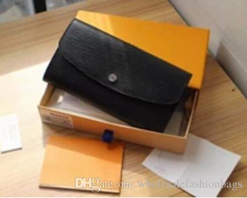 Hotsale europeus e americanos Top qualidade marca novas mulheres de couro genuíno Emilies Carteira bolsa pequena bolsa com Box