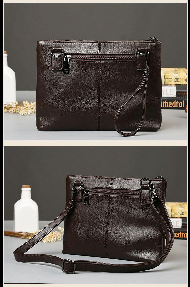 New retro designer shoulder bag male stitching plaid clutch bag file bags fashion handbag business casual envelope bag