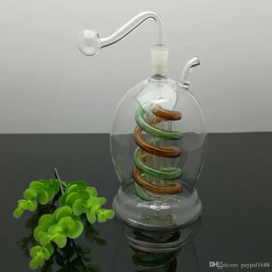 Enfiye şişe Cam bonglar Yağ Brülör Cam Su Boruları Petrol Kuyuları Ücretsiz Sigara