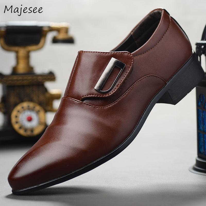 Men's Dress Shoes Slip-on Trendy Classic All-match Breathable Non-slip Men British Style High Quality Soft Bottom Party Simple