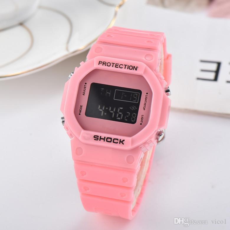 최고 판매 패션 G 남성과 여성 스포츠 시계 럭셔리 LED 전자 시계 충격 시계 태그 크로노 그래프 디지털 학생 손목 선물