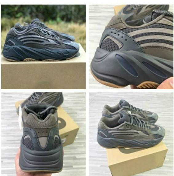 700 V2 Geode коричневый серый женская мужская баскетбольная спортивная обувь Kanye West 700s Мужчины Женщины бренд роскошные кроссовки rS
