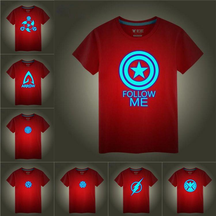 2020 Glow In The Night Superhero Logo Printed Kids T Shirts Tees 16 Designs 3 12t Kids Boys Cotton T Shirt Kids Designer Clothes Ss310 From Kids Gift 5 93 Dhgate Com