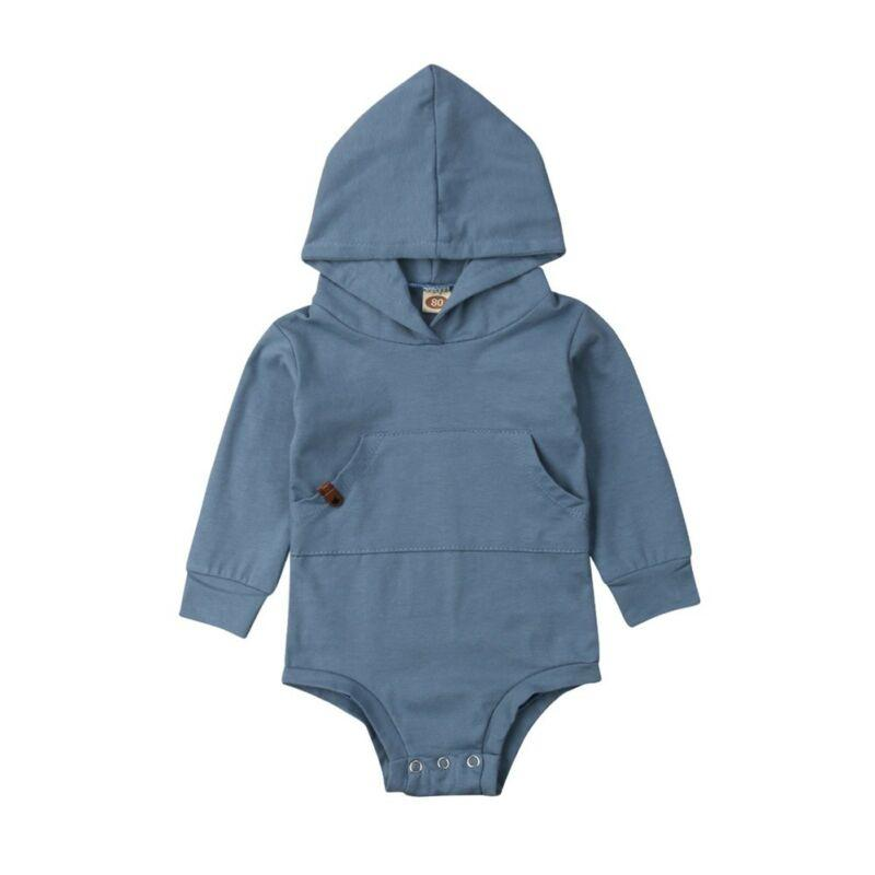 Newborn Infant Boy Girl Romper Hooded Jumpsuit Bodysuit Outfits Clothes